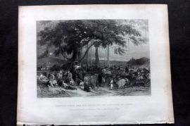 Fisher (Pub) 1844 Runjeet Singh and his Suwarree, or Cavalcade of Seiks, India